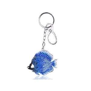 Deep Blue Enamel Ocean Saltwater Sea Fish Swarovski Crystal Rhinestone