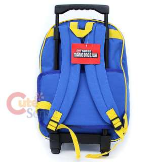 Super Mario Wii School Roller Backpack Rolling Bag 16L