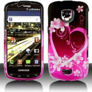 com Samsung i510 Droid Charge Purple Love Case Cover Protector (free