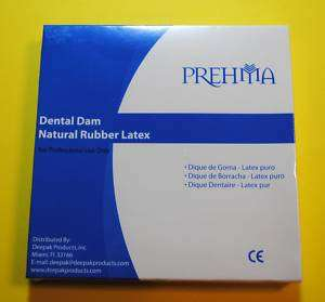 DENTAL DAM MADE IN NATURAL RUBBER LATEX GREEN OR BLUE