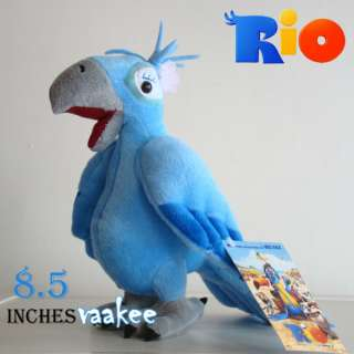 The Movie RIO Character Jewel Bird 8.5 Plush Toy Parrot Stuffed