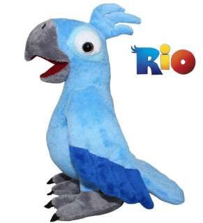 Rio* Movie Character Blu Parrot Plush Toy 8.5 Animal Doll Ship from