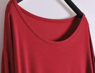New Womens Casual Loose Long Sleeve T shirt Blouses Six Colors 019