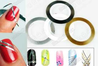 Fashion 18 Color Rolls Striping Tape Line Nail Art Decoration Sticker
