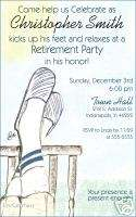 Personalized Retirement Birthday Party Invitations
