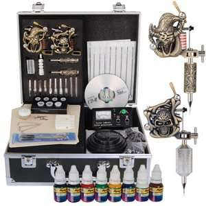 Guns Tattoo Tattooing Supply Machine Equipment Device Dacility Kit