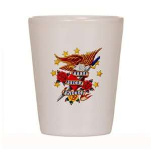 Shot Glass White of Bald Eagle Death Before Dishonor: Everything Else