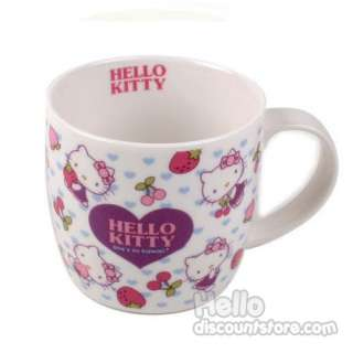 Sanrio Hello Kitty Ceramic Mug Cup (Hello Kitty & Fruits)