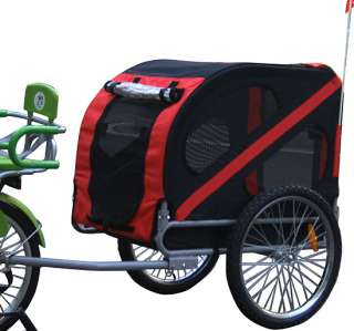 Deluxe Pet Dog Bike Bicyble Trailer Cat Carrier + Bicycle Hitch Black