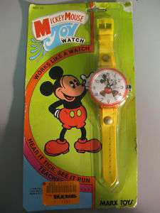 Vintage 1978 Marx Disney Mickey Mouse Toy Watch NIB