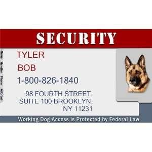 SECURITY Badge   1 Dogs Custom ID Badge   Design#5