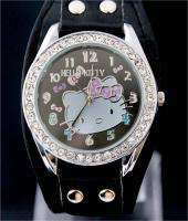 Quality Black HelloKitty Women Lady Girl Wrist Watch, DK5 BK