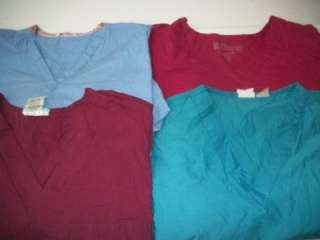 Medical Dental Scrubs Vet Lot of 10 SOLID Shirts Tops Size XL XLARGE