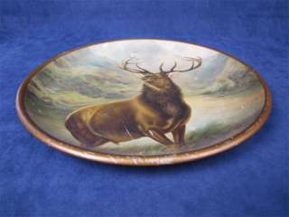 Vintage Tin Plate Wall Decor Hanging Red Deer Stag