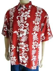 HAWAIIAN SHIRT SIZE 2XLARGE RED SHORT SLEEVE