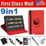 Kindle Fire 360 Rotating Case Cover/Protector/USB Cable/Charger