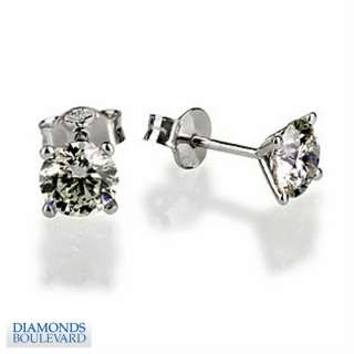 REAL NATURAL DIAMOND SOLITAIRE EARRINGS 18K GOLD 0.9 CT