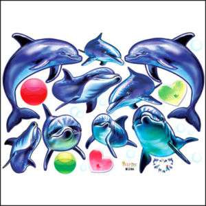 DOLPHIN Art Decor Mural Wall Paper Sticker Decal ECO 02