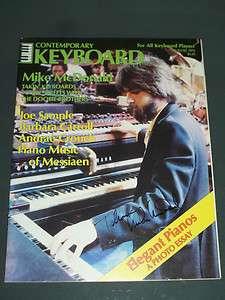 Hand Signed Contemporary Keyboard Magazine 1979 Doobie Brothers