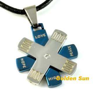 Stainless Steel Pendant NECKLACE Love Peace Hope MNF95