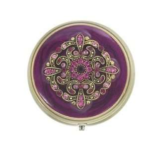 Gothic Romance Red Violet Bejeweled Mint Pill Box: Health