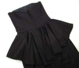 278 Nwt Rugby Ralph Lauren Black Strapless Ruffled Dress 2