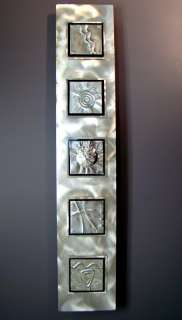 Large Modern Feng Shui Aluminum Metal Wall Art Decor Sulpture Silver5