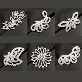 ADDL Item  1 pc Austrian rhinestone fashion hair comb