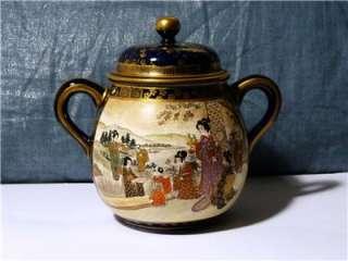 Antique Japanese Satsuma 3 Piece Tea Set. Meiji or Early Taisho Period