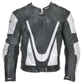 NF 81118 Armored Mens Racing Leather Motorcycle Jacket XL