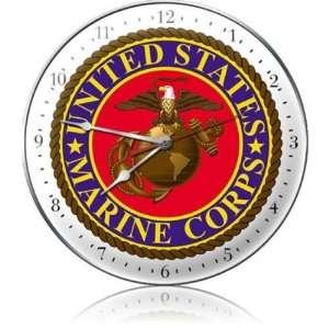 US Marine Corps Allied Military Clock   Garage Art Signs