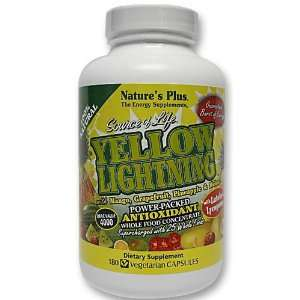 Natures Plus  Source of Life Yellow Lightning 180 Veggie
