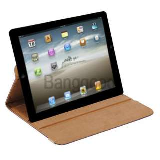 iPad 2 360° Stylish Rotating Leather Case Smart Cover With Swivel