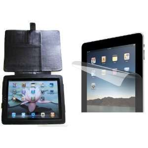 PU Leather iPad 1 Case with Magnetic Flap for Security and Ease