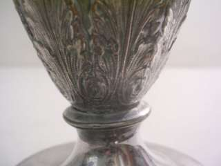 Antique EG E.G WEBSTER & SON Silver Plate REPOUSSE Vase