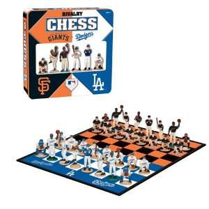 Los Angeles Dodgers versus San Francisco Giants MLB Rivalry Chess Set