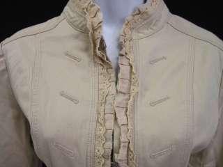 ROMEO & JULIET COUTURE Beige Trim Blazer Jacket Sz M