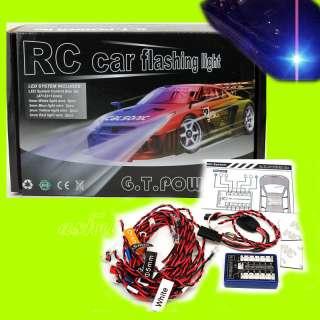 Power RC CAR TRUCK BUGGY LED lighting Kit FLASHING 12 LED COOL