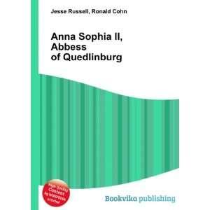 Sophia II, Abbess of Quedlinburg Ronald Cohn Jesse Russell Books