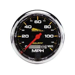 Auto Meter 3 3/8in. Electronic Speedometer   120 mph   Black Face