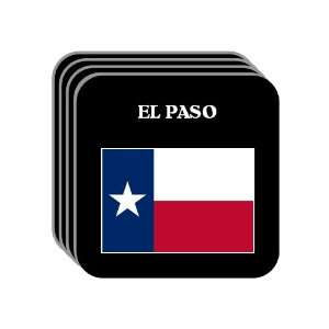 US State Flag   EL PASO, Texas (TX) Set of 4 Mini Mousepad