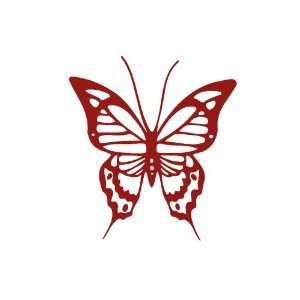 Butterfly BURGANDY Vinyl window decal sticker Office
