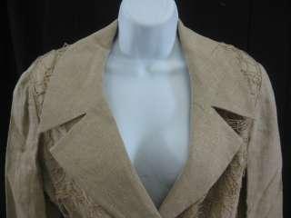 KATHRYN DIANOS Gold Jacket Blazer Skirt Suit Sz 10