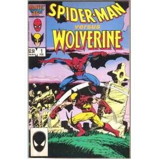 Spider Man versus Wolverine Comic Book #1, 1987 VERY FN