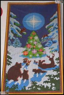 Sunset ENCHANTED FOREST Christmas Crewel Stitchery Kit