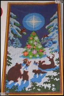 Sunset ENCHANTED FOREST Christmas Crewel Stitchery Kit