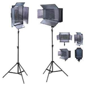 Pro 2 x 500 Led Photo Video Lighting Panel kit with light stands