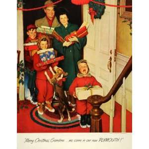 1950 Ad Norman Rockwell Illustration Grandma Visit