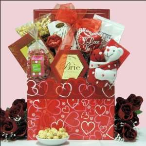 Hugs & Kisses Valentines Day Gourmet Gift Basket