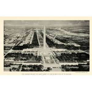 1923 Print Fine Arts Commission Washington DC Lincoln